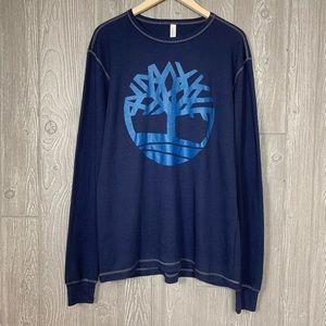 Timberland L Blue Long Sleeve Sample Logo T-Shirt